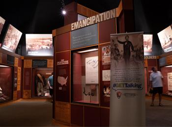 Interior of the Gettysburg Museum of the American Civil War